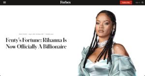 雑誌「Forbes」のウェブサイト