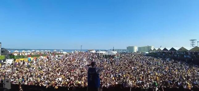 NAMIMONOGATARI2021の観客のようす