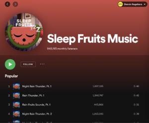「Sleep Fruits Music」のアカウント